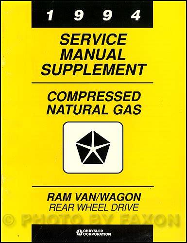 auto repair manual online 1994 dodge ram wagon b250 head up display 1994 dodge ram van wagon cng repair shop manual original supplement