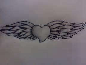 Angel Wings Heart Tattoo Designs