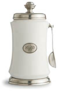 kitchen canisters and jars tuscan coffee canister with spoon traditional kitchen canisters and jars by arte italica