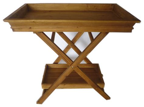 wooden tv trays with stand foldable wooden serving tray butlers tray stand and 1964