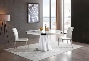 Modrest, Cabaret, Modern, White, Round, Dining, Table