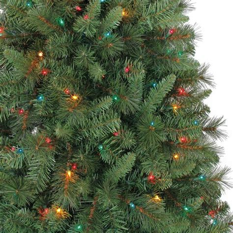 ashland pre lit windham spruce 7 ft pre lit green willow pine artificial tree multicolor lights by ashland