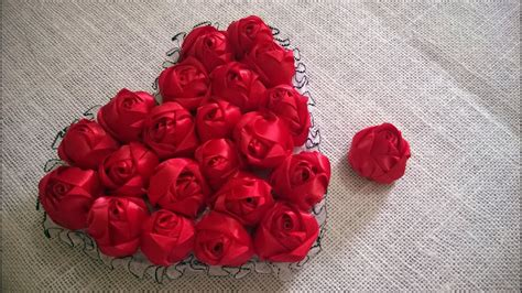 D.I.Y. Satin Rose Tutorial - Valentine's Day Heart ...
