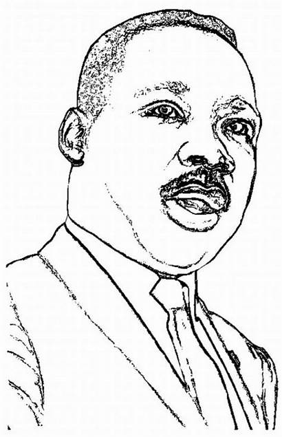 Luther Martin King Jr Coloring Pages Drawing
