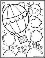 Coloring Colorear Dibujos Pond Printable Colouring Ausmalbilder Math Kindergarten Sommer Balloon Sheets Desenhos Coloriage Pintar Animal Colorir Tulamama Basteln Rainbow sketch template