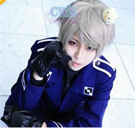 Axis Powers Hetalia APH Prussia Cosplay Short Grey Hair ...
