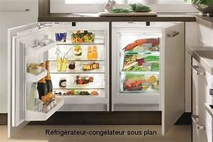 Refrigerateur Sous Plan De Travail : frigo noir sous plan de travail ~ Farleysfitness.com Idées de Décoration