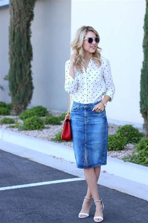 Best 25+ Denim skirt outfits ideas on Pinterest | Denim skirt Jean skirt and Jean skirts