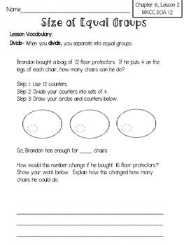 harcourt go math review worksheets for 3rd grade chapter 6 tpt