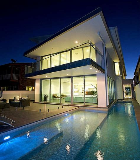 Modern Beach House Plans Designs Beach Narrow Lot House