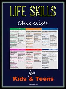 life skills checklists for kids and teens life skills With basic skills