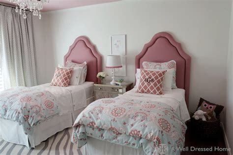 pink  gray girls room contemporary girls room