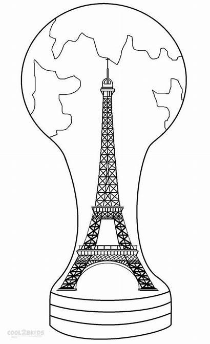 Eiffel Tower Coloring Pages Paris Printable France