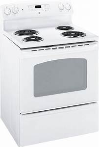 Ge Jbs27dmww 30 Inch Electric Range With 4 Coil Elements