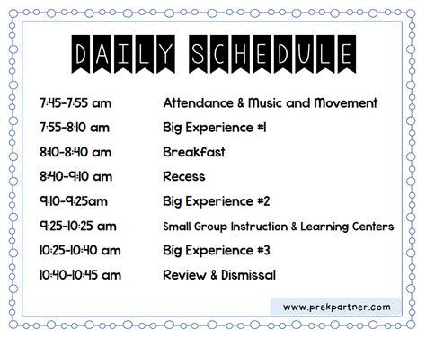 half day preschool schedule week when thursday prekpartner 732