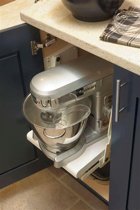 mixer storage shelf kitchen craft cabinetry