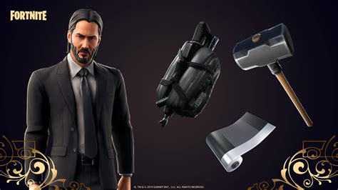 fortnite john wick skin outfit pngs images pro game
