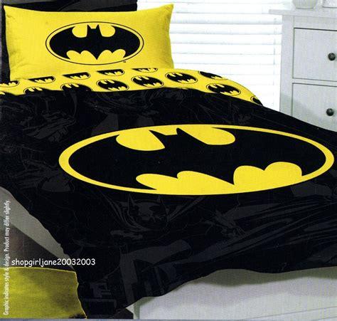 batman yellow logo dc queen bed quilt doona duvet cover ebay