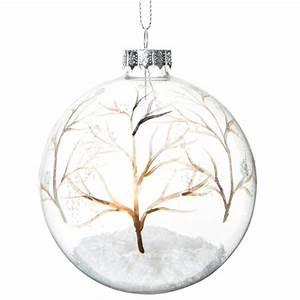 Boule Noel Transparente : 15 54 boule de no l transparente en verre 8 cm for t enchant e cette boule de no l ~ Melissatoandfro.com Idées de Décoration