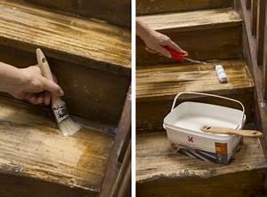Contre Marche Deco : peindre un escalier en bois appliquer protection parquet v33 ~ Dallasstarsshop.com Idées de Décoration