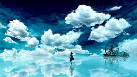 Anime Wallpaper Blue by Anime Blue Sky Hd Wallpaper Background Image 1920x1080