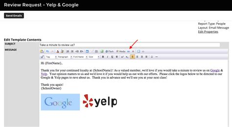 yelp review template using the quot review request yelp quot document template zen planner support