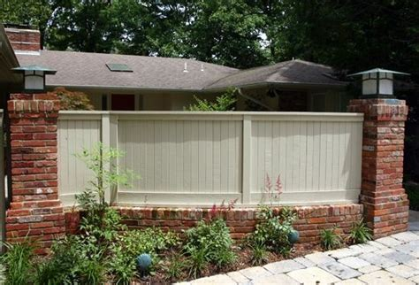 brick and wood fence pictures brick fence cedar wood outdoor love pinterest brick fence fence and cedar wood