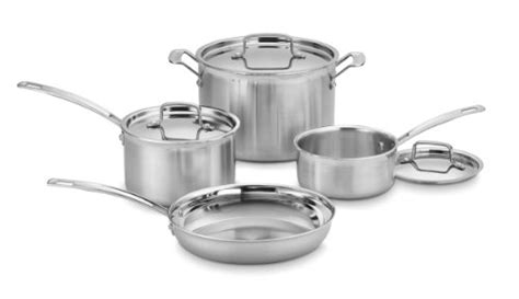 cuisinart mcp  multiclad pro stainless steel cookware  piece cookware set www