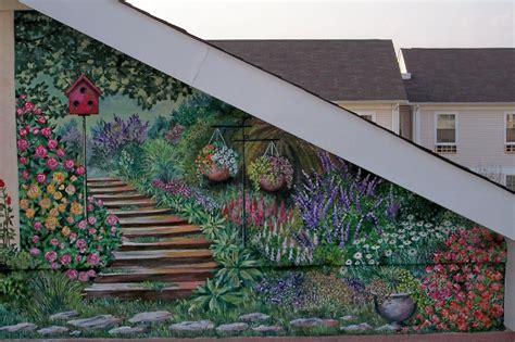 outdoor wall murals home decor ideas