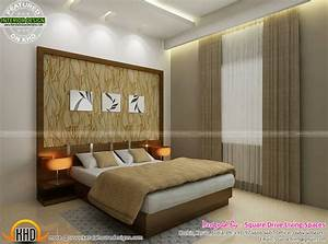 Interior designs of master bedroom, living, kitchen and ...
