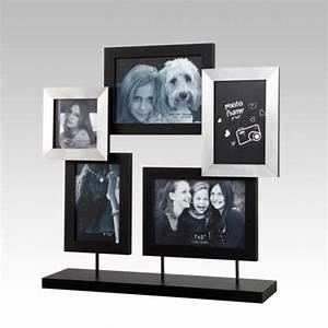 Cadre Photo A Poser : sil a cadre photo multivues poser en bois noir et gris 5 vues 43x43cm patch pas cher achat ~ Teatrodelosmanantiales.com Idées de Décoration