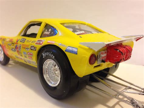 Opel Gt Drag Car by 1 25 Scale Amt Opel Gt Drag Car Glass Model Cars