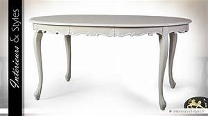 Table De Salle A Manger Ovale : table ovale extensible de salle manger patine ivoire vieilli int rieurs styles ~ Teatrodelosmanantiales.com Idées de Décoration