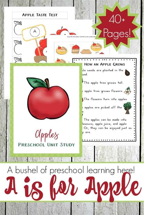 preschool apple activities and printables 777 | A is for Apple