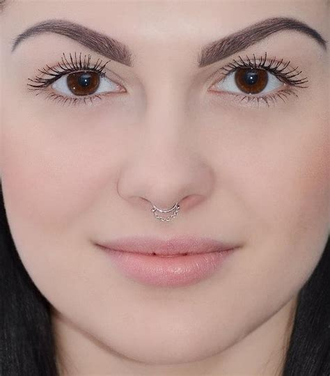 SEPTUM RING // Silver Septum Piercing Small Nose Ring