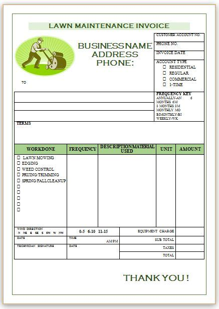 landscaping invoice templates professional