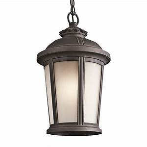 Kichler ralston in rubbed bronze outdoor pendant