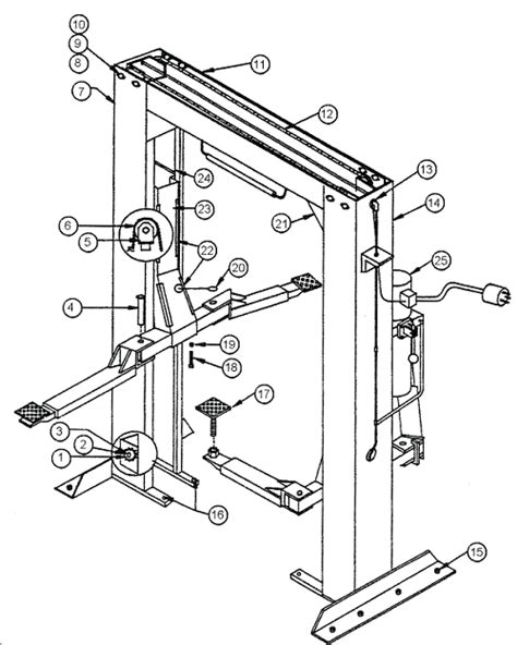challenger 2 post lift wiring diagram 2 post lift parts
