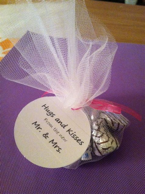 wedding favor hugs and kisses but in the little brown