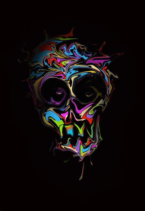 Digital Wallpaper Portrait by Wallpaper Digital Skull Simple Background