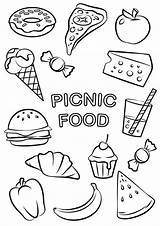 Coloring Pages Easy Picnic Tulamama sketch template