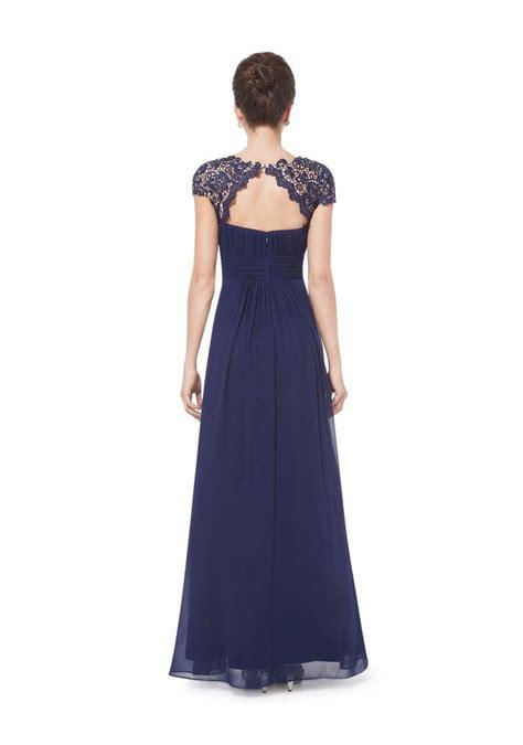 dunkelblaues bodenlanges ballkleid mit spitze dress