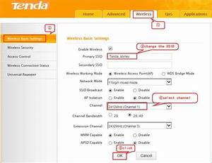 How To Change Ssid Name And Wifi Access Password For Tenda