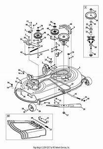 Troy Bilt Bronco 42 Deck Belt Diagram