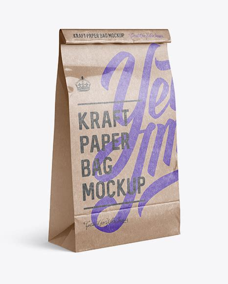 A quick snack requires a quick mockup, and what better tool to use than this new mockup provided by free psd templates. Glossy Kraft Paper Food/Snack Bag PSD Mockup Halfside View ...