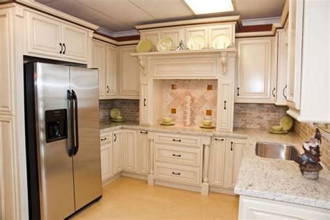 cream glazed kitchen cabinets cream glaze kitchen cabinets with built in fridge yelp