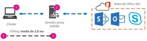 conectando con el servidor proxy de template ajuste del rendimiento de office 365 mediante l 237 neas base