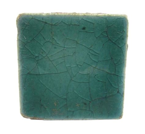 small square crackled teal tiles olde good