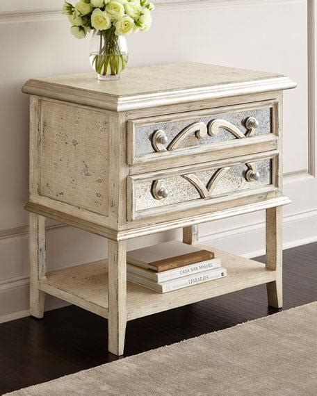 white mirrored nightstand wood top single drawer white nightstand