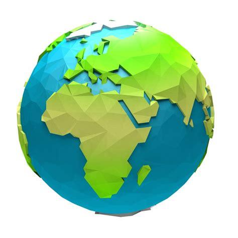 cartoon earth model